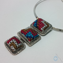 Elegant Embroidery Necklace