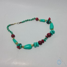 Eastern necklace – turquoise inlaid