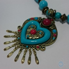 Traditional Handmade necklace – Blue
