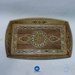 Wooden Mosaic tray  - Rectangle