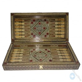 Syrian mosaic handmade set - chess and backgammon