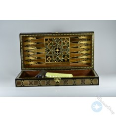 Handmade chess & backgammon set