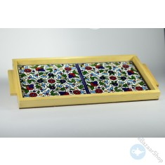 Ceramic tray for Serving tea or coffee - Rectangular