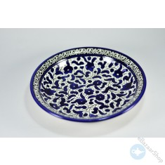Ceramic Dish for Hommos, Nuts or Dry Fruit - Blue