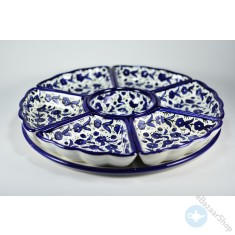Ceramic Dishes set for Nuts & Dry Fruit - 7 pieces