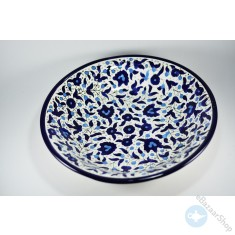Royal ceramic bowl for salads and fruit - Blue