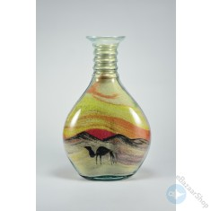 Sand Art glass bottle Colorful - Medium size