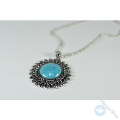 Round shape pendant necklace - Turquoise