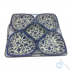 Ceramic Dishes set for Nuts & Dry Fruit - 5 pieces