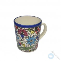 Ceramic mug for tea or coffee - Colorful rose