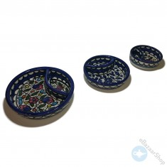 Chips and dip set bowls - blue
