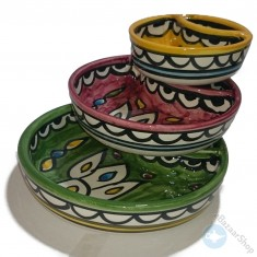 Chips and dip set bowls - colorful