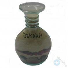Sand art glass bottle