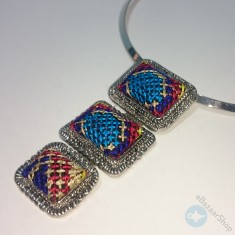 Eastern Embroidery necklace - colorful