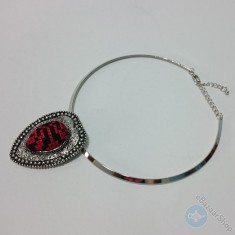 Eastern embroidery necklace - Red