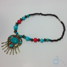 Eastern traditional necklace - Blue