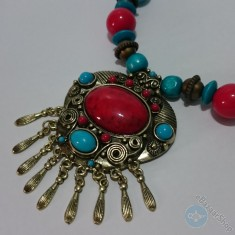 Colorful necklace - Eastern tradition