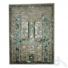 Seashell mosaic wall panel - petra.