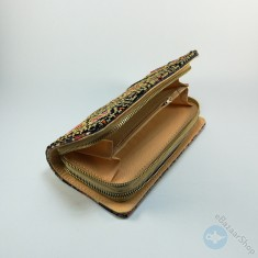 Handmade Wallet - Black & Gold