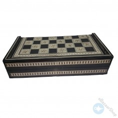 Handmade wooden backgammon & chess