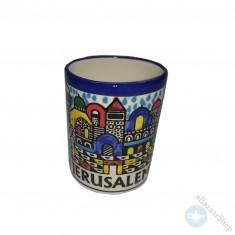كوب خزفي للشاي أو القهوة - القدس