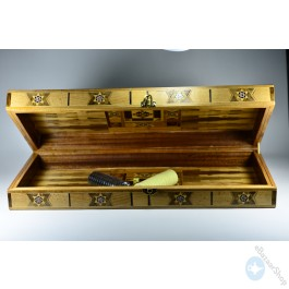 Wooden board chess and backgammon
