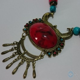 Red necklace - Handmade