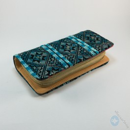 Hand embroidery purse - Turquoise
