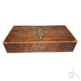 Wooden chess, backgammon set board - folding