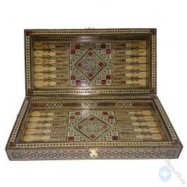 Syrian mosaic handmade set - chess and backgammon