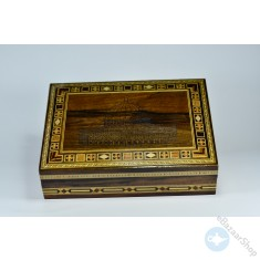 Wooden Mosaic & seashell Inlaid Box - Aqsa