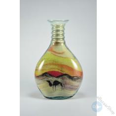 Sand Art glass bottle Colorful - Medium size