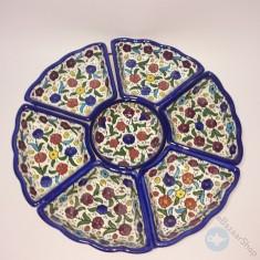 7 pcs Ceramic set for Nuts & Dry Fruit - Colorful