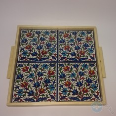 Ceramic tray for Serving tea or coffee - square