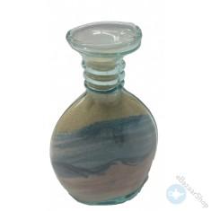 Sand art glass bottle