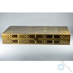 طاولة الزهر, الشطرنج الخشبية القيمة - موزاييك (كبير)