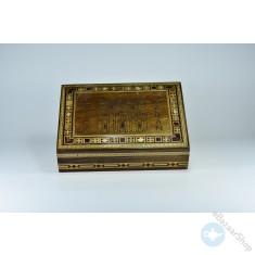 صندوق/علبه خشبي فسيفساء - موزاييك - البترا