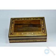 صندوق/علبه خشبي فسيفساء - موزاييك - الأقصى