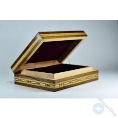 صندوق/علبه خشبي فسيفساء - موزاييك - لحفظ المصحف الشريف