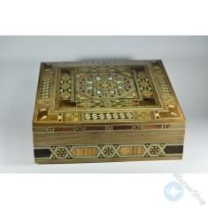 صندوق/علبه خشبي فسيفساء - موزاييك و مرصع بالصدف