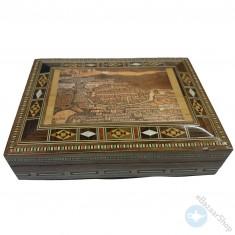 صندوق/علبه خشبي فسيفساء - موزاييك.